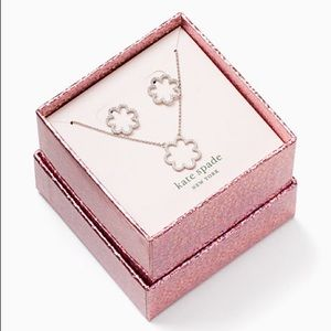 Kate spade scrunched scallops pendant and studs